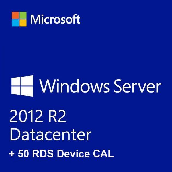 Buy Microsoft Windows Server 2012 R2 Datacenter RDS + 50 Device Cals