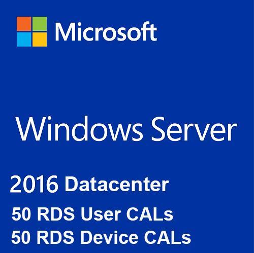 Microsoft Windows Server 2016 Datacenter + 50 RDS User & Device CALs